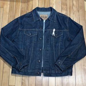 Women's GAP Dark Wash Denim Jacket Size Medium